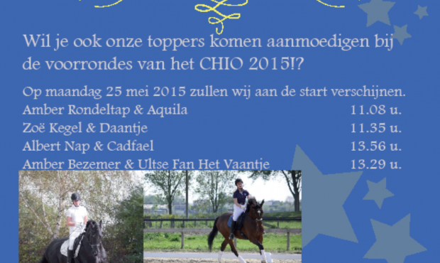 CHIO team 2015 start 25 mei