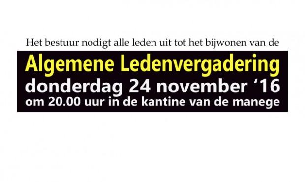 Algemene ledenvergadering 24 november