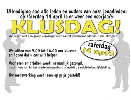 klusdag 14 april