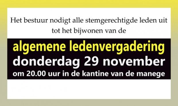 ledenvergadering 29-11